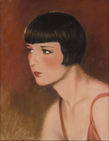 A Louise Brooks original pastel portrait