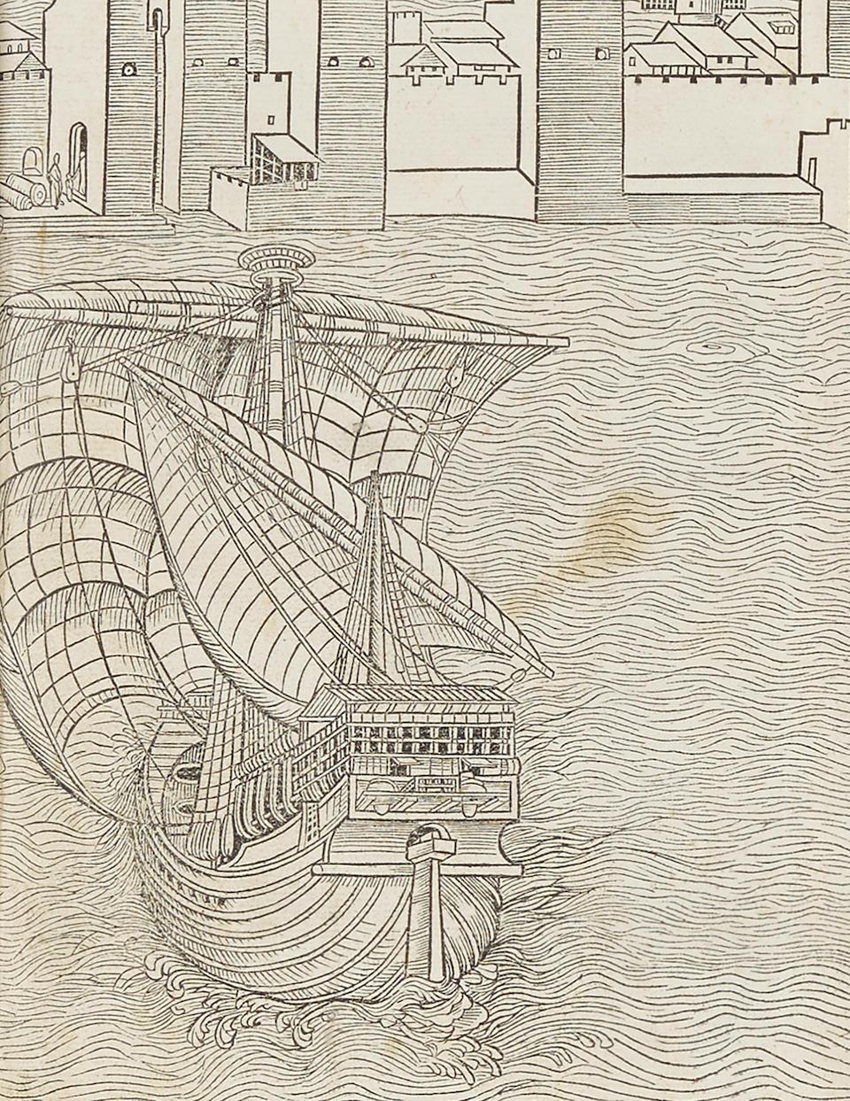 BREYDENBACH, BERNHARD VON.  c.1440-1497.  Peregrinatio in terram sanctam.  Mainz: Erhard Reuwich, 11 February 1486.