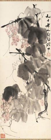 QI BAISHI (1863-1957)  Grapes, 1950