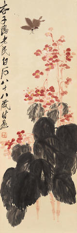 Qi Baishi (1864-1957)  Butterfly and Begonia