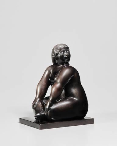 FERNANDO BOTERO (b. 1932) Seated Woman, 2006 (This work is number four from an edition of six.)