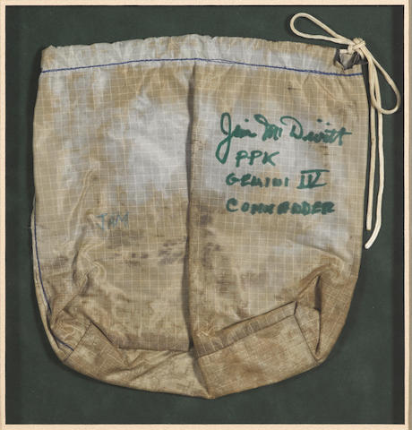GT-IV McDivitt flown and mounted personal preference kit bag