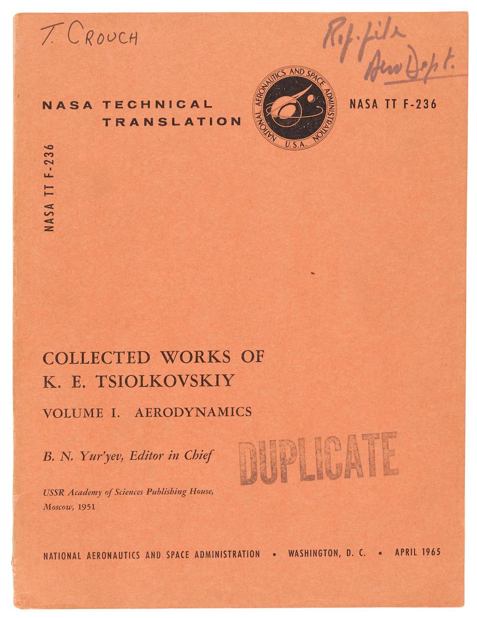 TSIOLKOVSKY's Works, with NASA TRANSLATIONS