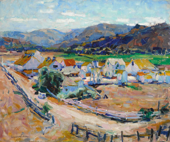 E. Charlton Fortune (1885-1969) Californian Landscape (The Hatton Ranch, Carmel Valley) 20 x 24in overall: 26 1/4 x 30 3/8in