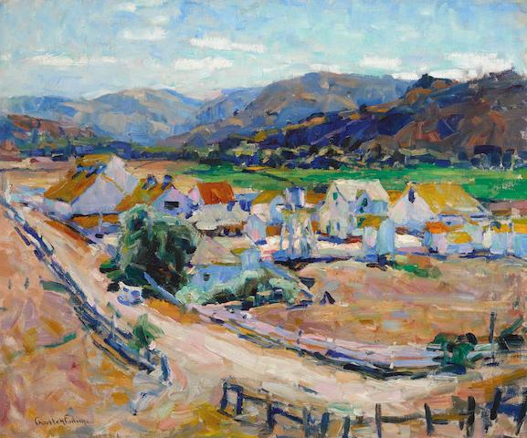 E. Charlton Fortune (1885-1969) Californian Landscape (The Hatton Ranch, Carmel Valley) 20 x 24in overall: 26 1/4 x 30 3/8in
