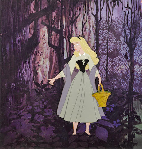 A celluloid of Briar Rose from Sleeping Beauty