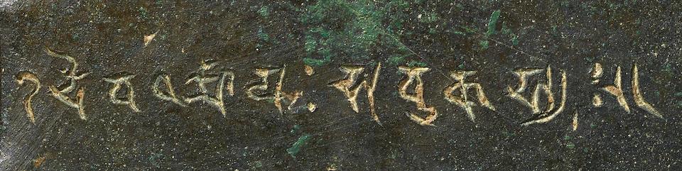 A COPPER ALLOY SHRINE TO RISHABANATHA JHARKHAND OR BIHAR, PALA PERIOD, 9TH CENTURY