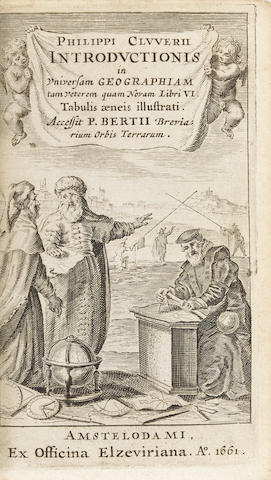 CLUVER, PHILIPP. 1580-1622. Introductionis in Universam Geographiam tam veterem quam novam Libri VI. Amsterdam: Elzevier, 1661