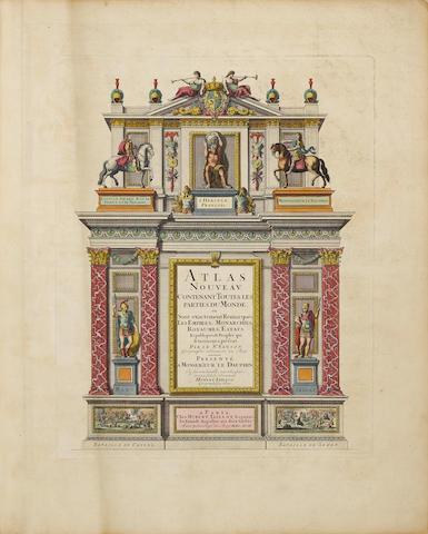 """JAILLOT, Alexis Hubert. c.1632-1712. Atlas Nouveau, contenant toutes les parties du Monde, ou sont exactement remarqués les empires, monarchies, royaumes, estats, republiques & peuples qui sy [sic.] trouvent à present. Par le Sr. Sanson ... Presenté ... par ... Hubert Iaillot.  """"Paris"""" [Amsterdam]: """"chez Hubert Jaillot"""" [Pierre Mortier], 1692-1693."""