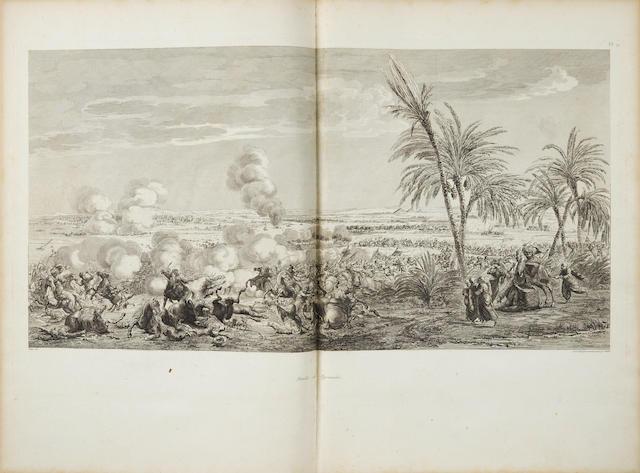 DENON, DOMINIQUE VIVANT, BARON DE. 1747-1825. Voyage dans la Basse et la Haute Egypte. Paris: Pierre Didot l'aine, 1802.