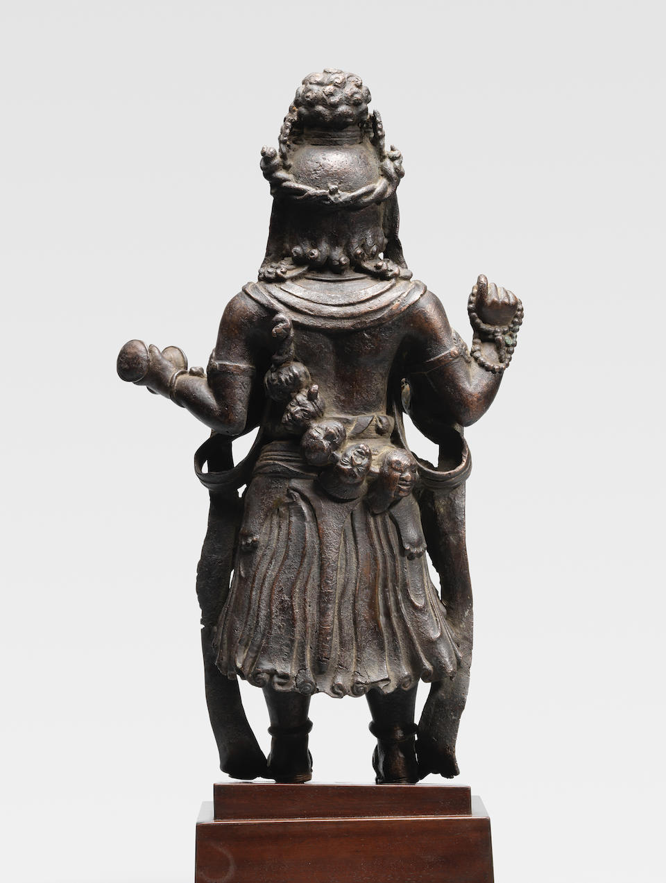 A COPPER ALLOY FIGURE OF MAHAKALA YUNNAN, DALI KINGDOM, LATE 12TH/EARLY 13TH CENTURY