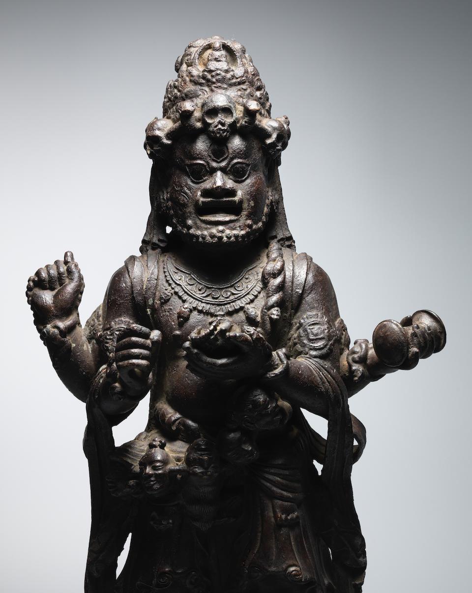 A COPPER ALLOY FIGURE OF MAHAKALA YUNNAN, DALI KINGDOM, LATE 12TH/EARLY 13TH CENTURY