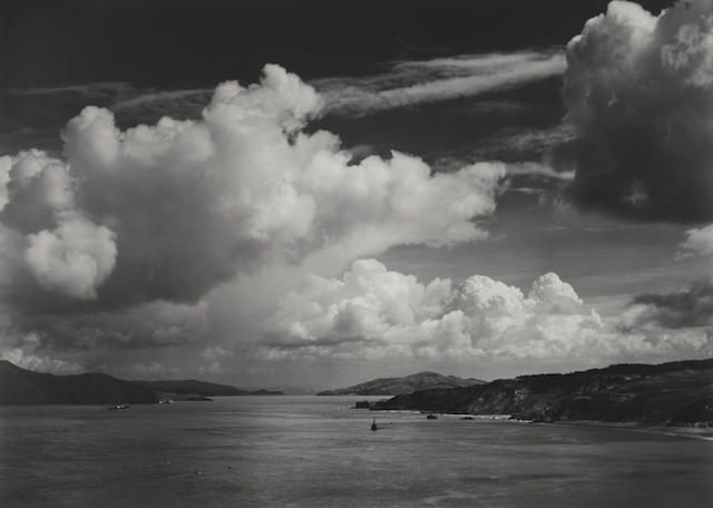 Ansel Adams (1902-1984); The Golden Gate before the Bridge, San Francisco, California;