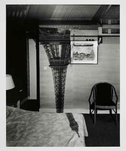 Abelardo  Morell (born 1948); Camera Obscura Image of the Eiffel Tower in the Hotel Frantour;