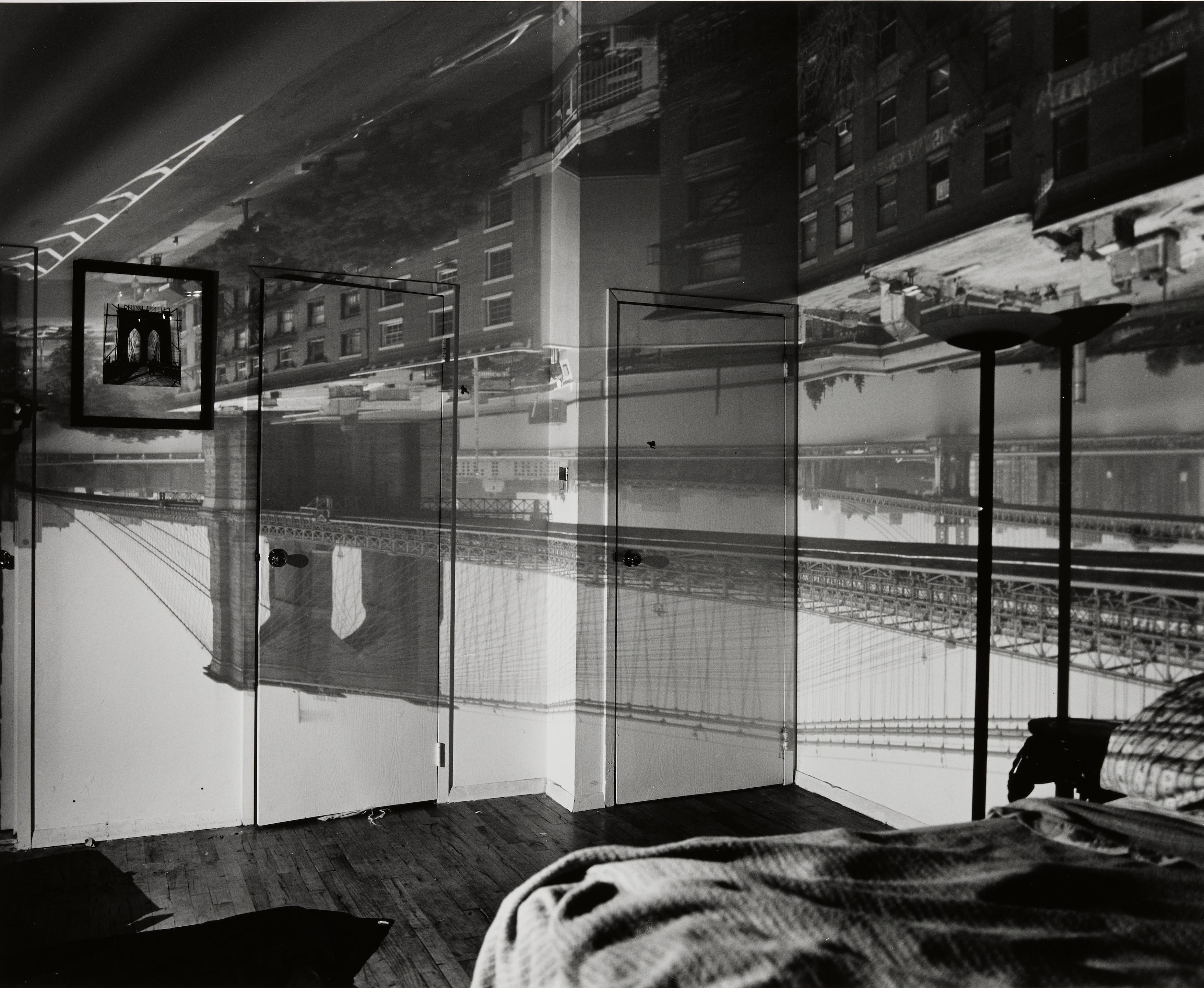 Abelardo  Morell (born 1948); Camera Obscura Image of the Brooklyn Bridge in Bedroom;