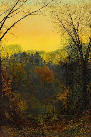 John Atkinson Grimshaw (British, 1836-1893) Twilight 22 x 15in (56 x 38cm)
