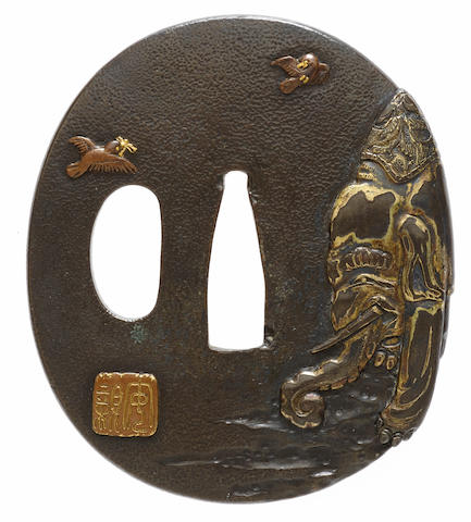 A Shonai tsuba After Yasuchika, Edo period (1615-1868), 18th century