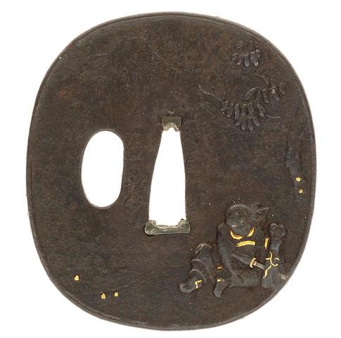A Kaneie tsuba After Kaneie, Edo period (16156-1868), 18th century
