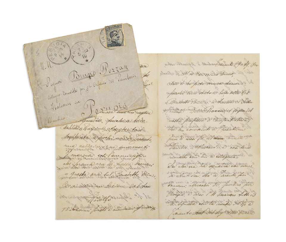An archive of Rudolph Valentino letters written to a childhood friend