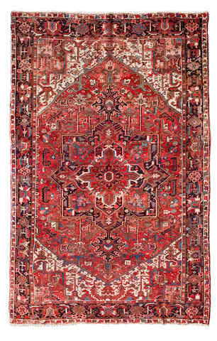 A Heriz carpet Northwest Persia dimensions approximately 11ft 7in x 8ft 8in (353 x 264cm)
