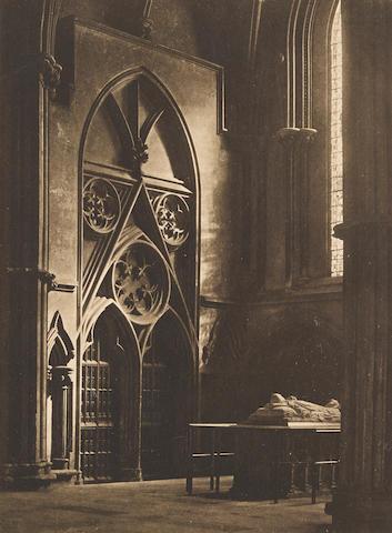 Frederick Henry Evans (1853-1943); 'In Sure and Certain Hope', York Minster, North Transept;