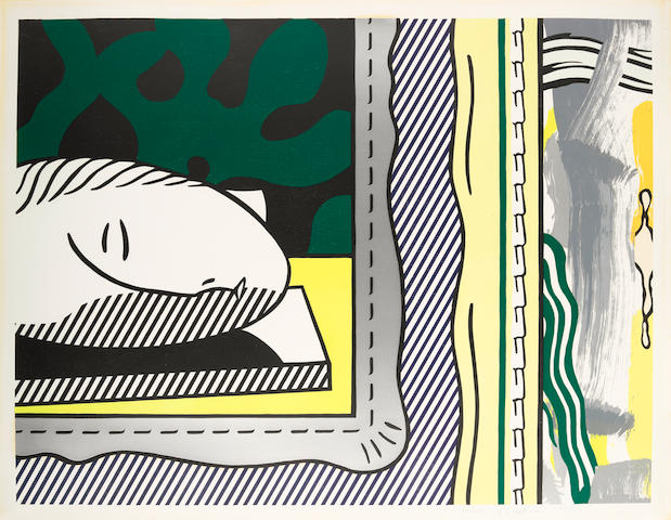Roy Lichtenstein (1923-1997); Two Paintings: Sleeping Muse, from Paintings;