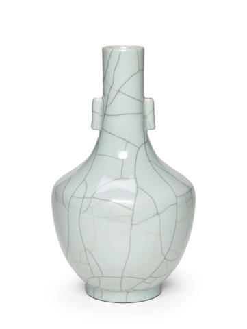 A Guan-type arrow vase  Daoguang mark and of the period