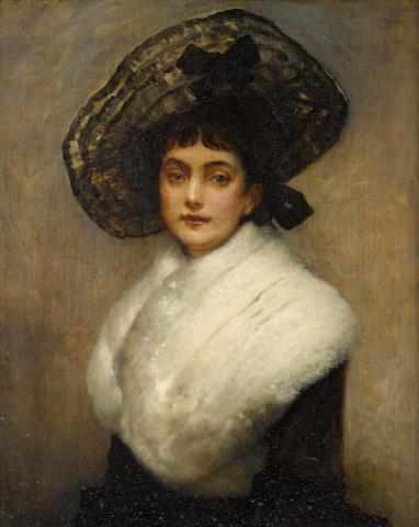 George Adolphus Storey (British, 1834-1919) Little Swansdown 24 x 20in (61 x 51cm)