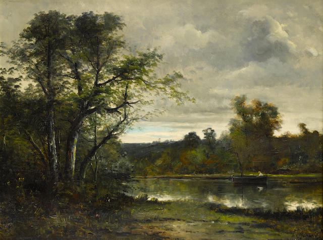 Ernest Emile Armand-Delille (French, 1843-1883) Les pêcheurs 25 1/2 x 36 1/2in (65 x 93cm)