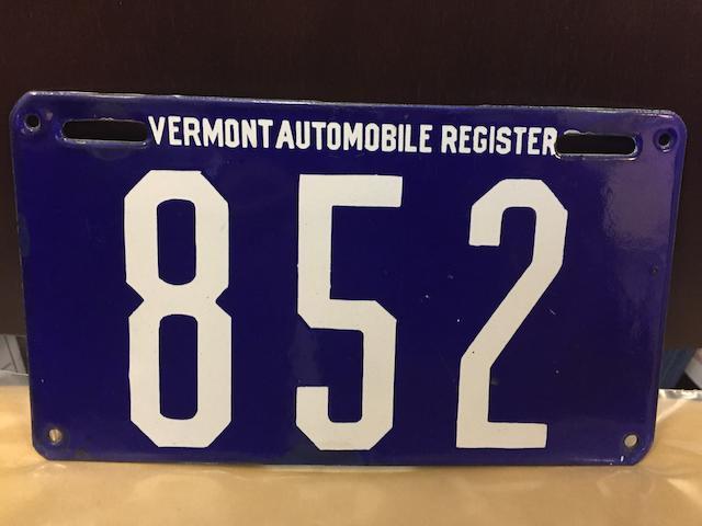 c.1905 Vermont Plate