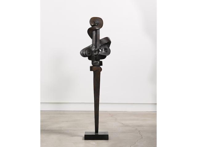 Sorel Etrog (1933-2014) Untitled 56 x 15 x 7 3/4 in. (142.2 x 38.1 x 19.7 cm)