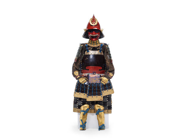 A black and red-lacquer Kaga armor Edo period (1615-1868), 18th/19th century