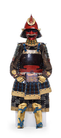 A black and red-lacquer Kaga armor Edo period (1615-1868), 18th/19th century