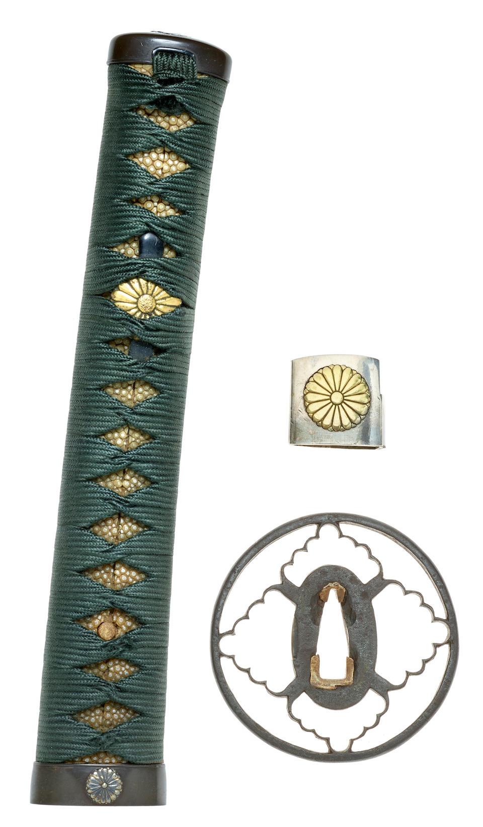 A koto tachi in mounts Attributed to Rai Kuniyuki, Kamakura period (1185-1333), circa 1240