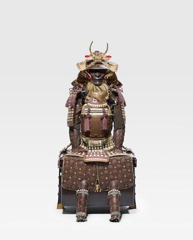 A white-laced russet-iron armor Edo period (1615-1868), 19th century