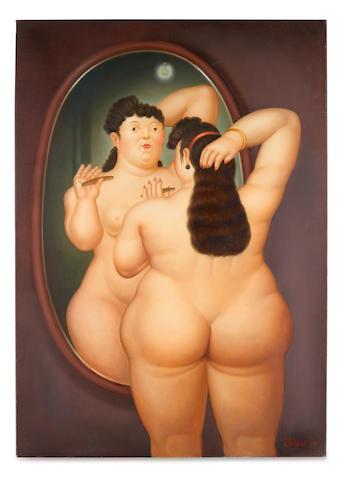 FERNANDO BOTERO (b. 1932) Nude in Mirror, 2001