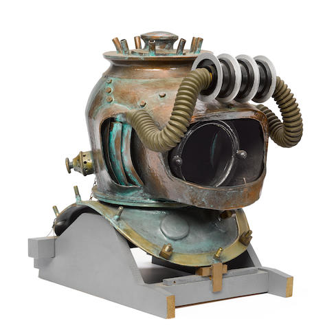 A Harper Goff-owned replica 20,000 Leagues Under the Sea diving helmet