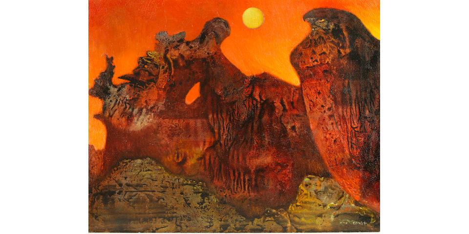 MAX ERNST (1891-1976) Ohne titel (Sedona Landschaft) 18 1/2 x 23 3/8 in (47.1 x 59.5 cm) (Painted circa 1957)