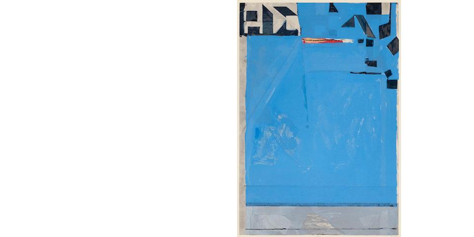 Richard Diebenkorn (1922-1993); Blue With Red;