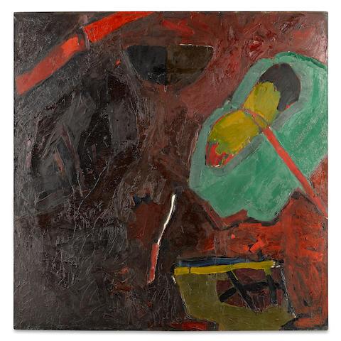Joan Brown (1938-1990) Things in Vat, 1959 72 x 72 in. (182.9 x 182.9 cm)