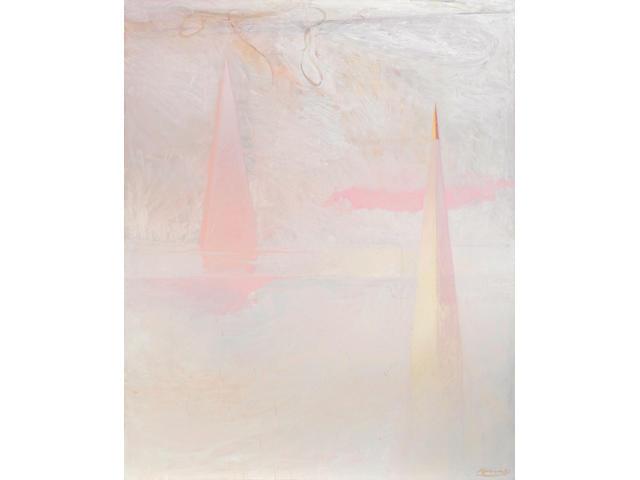 Nathan Oliveira (1928-2010) Ryan 4, 1980 96 x 78 1/4 in. (243.8 x 198.8 cm)