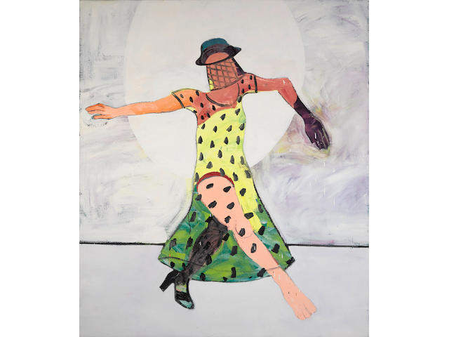 Joan Brown (1938-1990) Dancer with Veil, 1974 83 7/8 x 72 in. (213 x 182.9 cm)