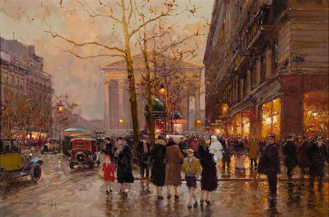 Edouard Henri Leon Cortès (French, 1882-1969) La Madeline et la Rue Royale 15 3/4 X 23 3/4in (40 x 60.2cm)