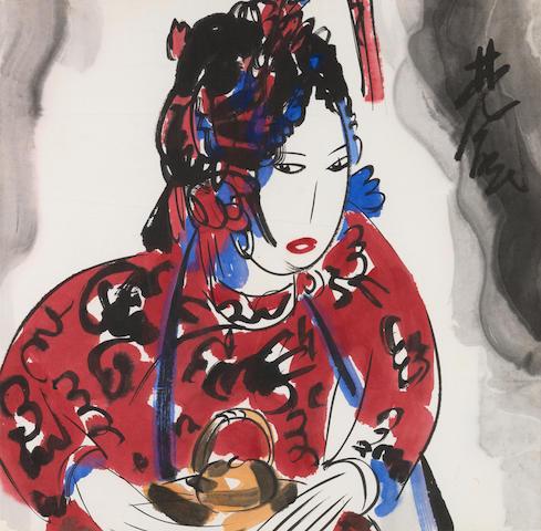 Lin Fengmian (1900-1991)  Opera Figure