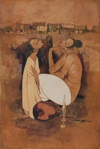 Seah Kim Joo (Singaporean, b.1939) Meditating
