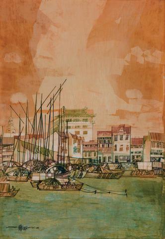 Seah Kim Joo (Singaporean, b.1939) Singapore River