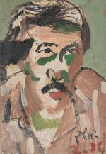 Bui Xuan Phai (Vietnamese, 1920-1988)  Self Portrait, Gentleman with Hat and Three Figures  (3)