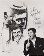 Two Jerry Lewis oversized autograph vintage photographs