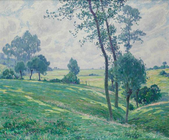 Rodolphe Paul Wytsman (Belgian, 1860-1927) Symphony in green 39 1/2 x 47 1/4in (100 x 120.5cm)