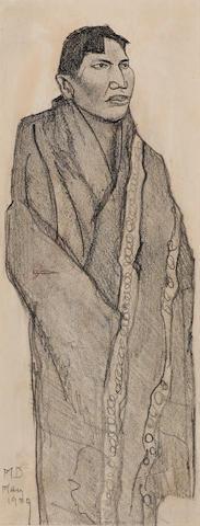 Maynard Dixon (1875-1946) Alaskan sheet 8 1/2 x 3 1/4in overall: 15 1/2 x 11 1/2in (Drawn in 1939)